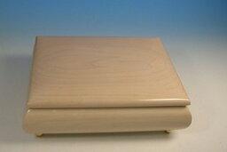 ウッドニー オルゴール 30弁オルゴール メープル(もみじ材)ボックス ミーティス ホワイト(ウッドニー製:日本)OE028-MH[送料無料]