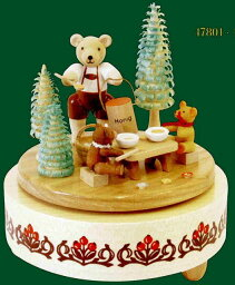 エルツ オルゴール ドイツ エルツ山地の手作り 木のオルゴール クマさん家族 ドイツ製 47801 [送料無料]
