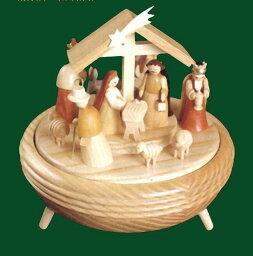 エルツ オルゴール ドイツ エルツ山地の手作り 木のオルゴール 聖誕 ドイツ製 08701 [送料無料]