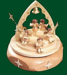 エルツ オルゴール ドイツ エルツ山地の手作り 木のオルゴール 天使と星 ドイツ製 85140 [送料無料]