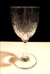 バカラ ワイングラス 【オールド・バカラ】 木の葉状のリーフカットが素敵な小さめのワイングラス【Paris】