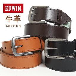 エドウィン EDWIN エドウィン レザーベルト ステッチ 牛革 (0110937) ベルト 本革 メンズ カジュアル アメカジ ブランド