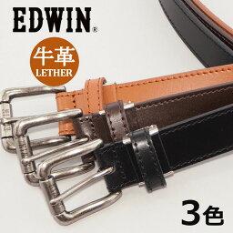 エドウィン EDWIN エドウィン レザーベルト ローラー ステッチ 牛革 (0110935) ベルト 本革 メンズ カジュアル アメカジ ブランド