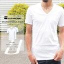 ジースターロー 【定番2枚組】【G-STAR RAW ジースターロウ】 パックVネック半袖Tシャツ (ホワイト) ジースターロー gstar トップス パックTシャツ アンダーシャツ 二枚組 メンズ men's 国内正規品 インポート ブランド 海外ブランド 8756-124/D07207-124