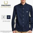 【FRED PERRY フレッドペリー】 長袖シャツ ストライプ メンズ men's 国内正規品 インポート ブランド 海外ブランド F4545