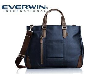 EVERWIN/エバウィン 21598 フィレンツェ メンズ キャンバスビジネスバッグ (ネイビー) ショルダー 2way 日本製