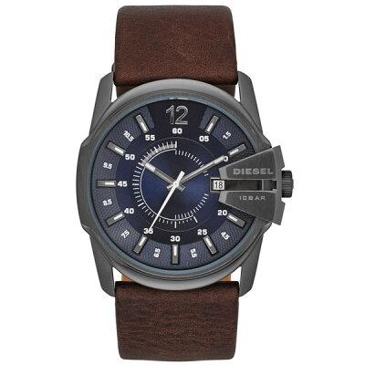 【送料無料】DIESEL ディーゼル メンズ 腕時計 時計 DZ1618 Master Chief マスターチーフ ネイビーブルー×ガンメタル×ブラウンレザー 【あす楽対応】【RCP】【プレゼント】【ブランド】【セール】