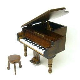 ミニアンティーク木製オルゴール・グランドピアノ 【既存曲リストからお好きな曲を選べます】ミニアンティークグランドピアノ・18Nタイプオルゴール