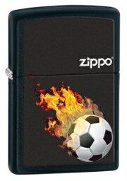 欧州 サッカー Zippo 炎のサッカーボール ファイヤー BURNING BALL zippo ジッポー 28302 ブラックマット