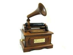Sankyoオルゴール 木製ミニアンティーク Sankyo B-626S/B626S 曲目 : ムーンリバー エジソン型蓄音機 オルゴール 木製ミニアンティーク サンキョー【楽ギフ_包装選択】【楽ギフ_のし宛書】【RCP】【P5】
