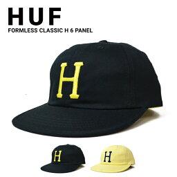 ハフ キャップ メンズ 【割引クーポン配布中】 HUF (ハフ) FORMLESS CLASSIC H 6-PANEL CAP キャップ 帽子 ストラップバックキャップ 6パネルキャップ メンズ レディース ユニセックス ストリート スケート 【あす楽対応】