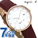 アニエスベー 腕時計(レディース) アニエスベー 時計 レディース FBSK945 agnes b. マルチェロ ホワイト×レッド 赤 革ベルト 腕時計【あす楽対応】