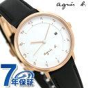 アニエスベー 腕時計(レディース) アニエスベー 時計 レディース FBSK946 agnes b. マルチェロ ホワイト×ブラック 革ベルト 腕時計【あす楽対応】