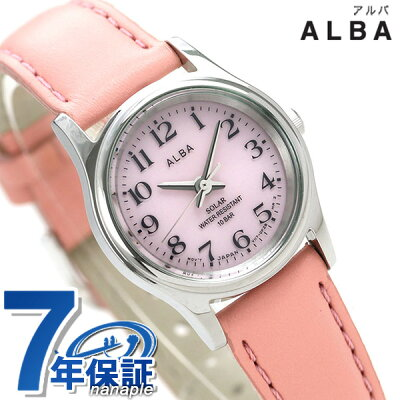 セイコー アルバ ソーラー レディース 腕時計 AEGD560 SEIKO ALBA ピンク 時計