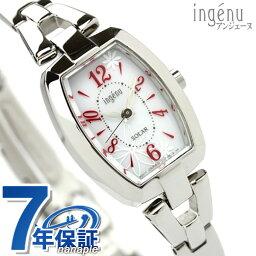 セイコー アルバ 腕時計(レディース) セイコー アルバ アンジェーヌ ソーラー トノーフラワー AHJD059 SEIKO ALBA ingenu 腕時計 ホワイト×レッド