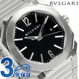 ソロテンポ 腕時計(メンズ) 【エントリーで最大14倍 18日10時〜】ブルガリ 時計 メンズ BVLGARI オクト ソロテンポ 41mm 自動巻き BGO41BSSD 腕時計 ブラック