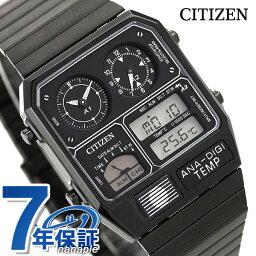 シチズン クロノグラフ 腕時計(メンズ) シチズン 腕時計 クロノグラフ 温度計 ブラック アナログ デジタル JG2105-93E CITIZEN アナデジテンプ 時計【あす楽対応】