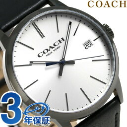コーチ 腕時計(メンズ) コーチ メトロポリタン クオーツ メンズ 腕時計 14602096 COACH シルバー×ブラック