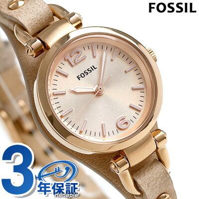【25日なら全品5倍以上!店内ポイント最大46倍】 FOSSIL フォッシル 腕時計 レディース ジョージア ミニ ES3262 ピンクゴールド 【あす楽対応】