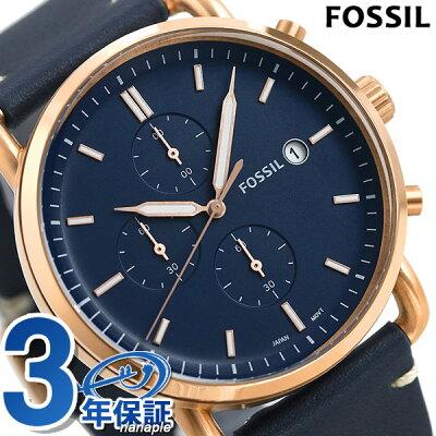フォッシル 腕時計 メンズ クロノグラフ 革ベルト FS5404 FOSSIL コミューター COMMUTER 時計【あす楽対応】