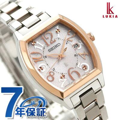 【ハンカチ付き♪】セイコー ルキア SEIKO LUKIA 電波 ソーラー レディース 腕時計 SSVW048 綾瀬はるか ピンク 時計【あす楽対応】