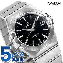 オメガ コンステレーション 腕時計(メンズ) オメガ OMEGA メンズ 腕時計 コンステレーション ローマ数字 ブラック シルバー 123.10.35.60.01.001 新品 時計【あす楽対応】