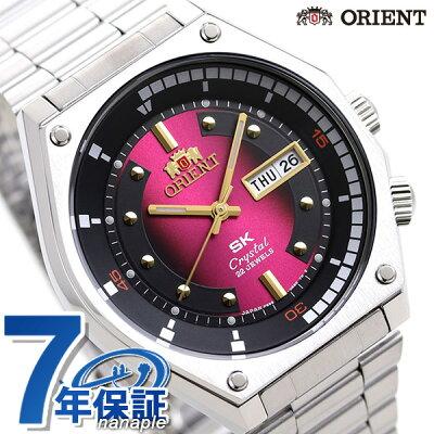 オリエント スポーツ SK復刻モデル 自動巻き 日本製 メンズ 腕時計 RN-AA0B02R ORIENT レッド