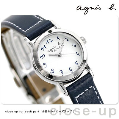 【トートバック付き♪】アニエスベー 時計 レディース ソーラー FBSD981 agnes b. ネイビー 革ベルト 腕時計【あす楽対応】