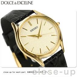 ドルチェ&エクセリーヌ 【5日ならさらに+4倍でポイント最大32倍】 セイコー ドルチェ クオーツ メンズ SACM150 SEIKO DOLCE&EXCELINE 腕時計 ゴールド×ブラック レザーベルト 時計