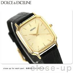 ドルチェ&エクセリーヌ セイコー ドルチェ&エクセリーヌ メンズ SACM154 SEIKO DOLCE&EXCELINE 腕時計 ゴールド×ブラック 革ベルト 時計