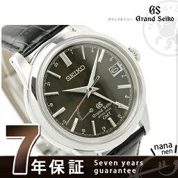 セイコー グランド セイコー 腕時計(メンズ) SBGE027 グランド セイコー スプリングドライブ メンズ 腕時計 GRAND SEIKO ブラック レザーベルト 時計