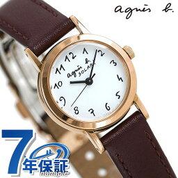 アニエスベー 腕時計(レディース) アニエスベー 時計 レディース ソーラー FBSD962 agnes b. マルチェロ バーガンディ 革ベルト 腕時計