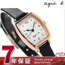 アニエスベー 腕時計(レディース) アニエスベー クオーツ レディース 腕時計 FBSK952 agnes b. シルバー×ブラック レザーベルト