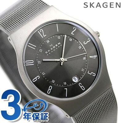 【20日なら全品5倍以上!店内ポイント最大46倍】 スカーゲン メンズ 腕時計 チタン 233XLTTM SKAGEN 時計 【あす楽対応】