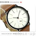 スカーゲン スカーゲン ハーゲン クオーツ メンズ 腕時計 SKW6216 SKAGEN シルバー×ブラウン【あす楽対応】