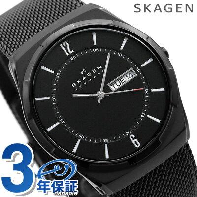 スカーゲン メンズ 腕時計 チタン デイデイト オールブラック SKW6006 SKAGEN 時計 【あす楽対応】