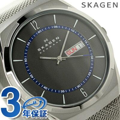スカーゲン 時計 メンズ メルビ デイデイト SKW6078 クオーツ グレー SKAGEN 腕時計【あす楽対応】