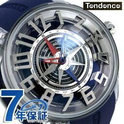 テンデンス テンデンス キングドーム コンパス 50mm メンズ 腕時計 TY023006-NV TENDENCE ブラック×ブルー 時計