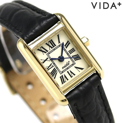 ヴィーダ プラス VIDA+ ミニ レクタンギュラー レディース 83904 LE-BK 腕時計 クリーム 時計