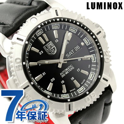 店内ポイント最大43倍!26日1時59分まで! ルミノックス 腕時計 LUMINOX モダン マリナー オートマチック デイデイト レザーベルト 6501 ブラック 時計【あす楽対応】