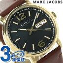 マークジェイコブス 腕時計(メンズ) マーク バイ マーク ジェイコブス ファーガス MBM5077 MARC by MARC JACOBS メンズ 腕時計 クオーツ グリーン×ブラウン レザーベルト