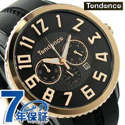テンデンス テンデンス ガリバー 47 クロノグラフ クオーツ 腕時計 TY460013 TENDENCE ブラック×ピンクゴールド 時計