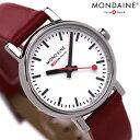 モンディーン MONDAINE モンディーン 腕時計 Evo エヴォ レディース レッドレザー×ホワイト A658.30301.11SBC 時計