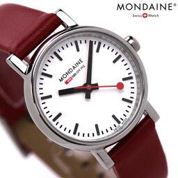 モンディーン MONDAINE モンディーン 腕時計 Evo エヴォ レディース レッドレザー×ホワイト A658.30301.11SBC