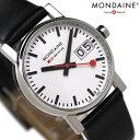 モンディーン MONDAINE モンディーン 腕時計 Evo エヴォ ビッグデイト レディース ブラックレザー×ホワイト A669.30305.11SBB 時計