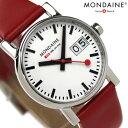 モンディーン MONDAINE モンディーン 腕時計 Evo エヴォ ビッグデイト レディース レッドレザー×ホワイト A669.30305.11SBC 時計