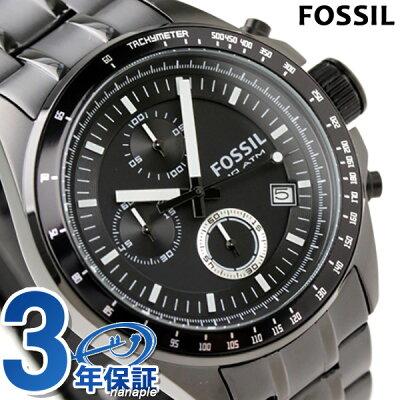 【20日なら全品5倍以上&1,000円割引クーポン】 FOSSIL フォッシル 腕時計 メンズ クロノグラフ メタルベルト オールブラック CH2601【あす楽対応】