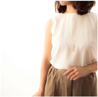naotjewelry Rhombus Long Necklace レディース ロング ネックレス ゴールド