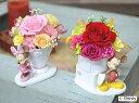 ディズニープリザーブドフラワー プリザーブドフラワーディズニーキャラクターミッキー&ミニーアレンジ花束とケーキ誕生祝い、母の日、父の日、敬老の日、結婚祝い