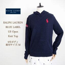 ラルフローレン 【SALE】【BLUE LABEL by Ralph Lauren】ラルフローレン ブルーレーベル USOPEN ビッグポニー ニットパーカ/NAVY【あす楽対応】セーター